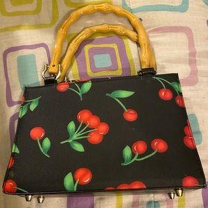 Cherry Print Handbag